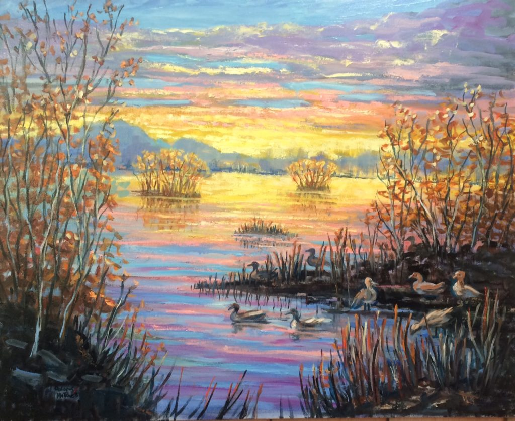 Painting by Dolores Mitchell